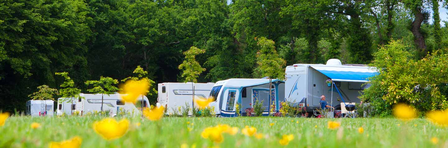 Camping pitches for tents, caravans and camper vans